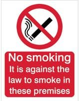 House Nameplate Co Against The Law Smoking - 15x20cm